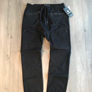 New Akademiks Black Jogger Pants Size M